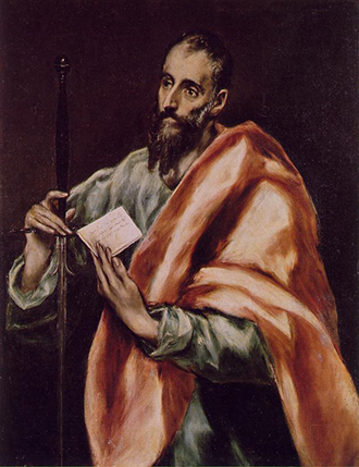 The painting Apostle St Paul (1610-14) by El Greco