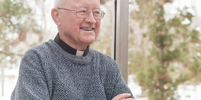 """Divine Word Missionary Father Pat Connor: """"Once you fall in love it's difficult to use your brain, to use your intellect. Emotions can trump rationality"""""""