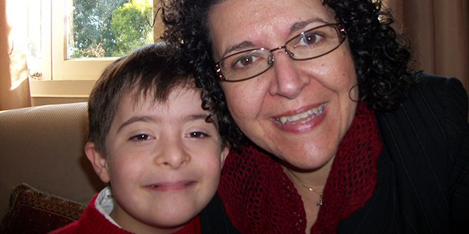 Choosing life: Maria Bozikis and her son Theo