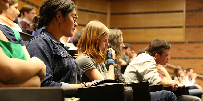 Students listening to speakers at the Australian Catholic Students Association Conference last weekend at the University of Queensland, Brisbane. Photo: Emilie Ng