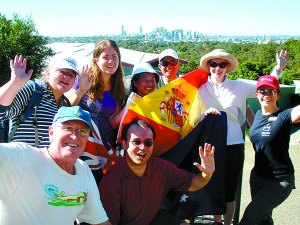 Pilgrims preparing for Spanish WYD fiesta