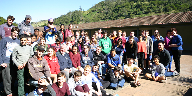 Growing in faith: Participants on the InsideOut 2013 youth retreat at Camp Bornhoffen in the Gold Coast hinterland.
