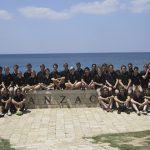 St Laurence's College students at Anzac Cove.