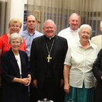 At the recent National Liturgical Council meeting in Brisbane are, from left, Bishop Paul Bird, Monsignor Pat O'Regan, Sophy Morley, Jenny O'Brien, Fr Barry Craig, Archbishop Mark Coleridge, Fr Stephen Hackett, Elizabeth Harrington, Fr Tom Elich, Bishop Peter Elliott, Dr Clare Johnson and Dr Paul Taylor.