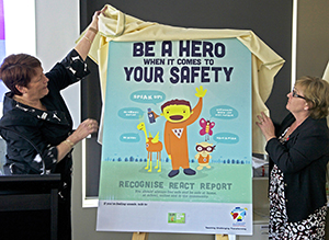 Pam Betts and Denise Morcombe unveil the new primary poster.