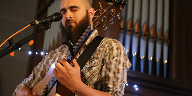 Inspirational: Joe Zambon shares his music with a hope for healing and encouragement of his audience. Photo: Emilie Ng