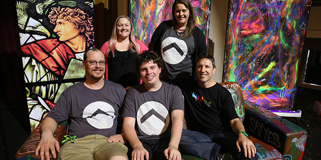 New initiative: Ignite Youth Team leaders Kym Keady, Caitie Humphrys, Luke Plant, Scotty McDonald and Pat Keady ready to change the lives of young people in Australia. Photo: Emilie Ng