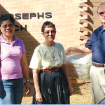 Parishioners visit Scherger refugees