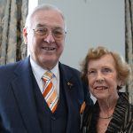 Professor Ashley Goldsworthy with his wife Shirley Goldsworthy, married for 57 years.