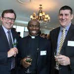 Mark Lysaght, Fr Anthony Ekpo and Peter Gabauer.
