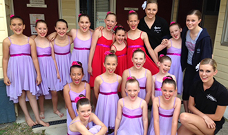 The junior dance troupe with Year 11 student coaches.