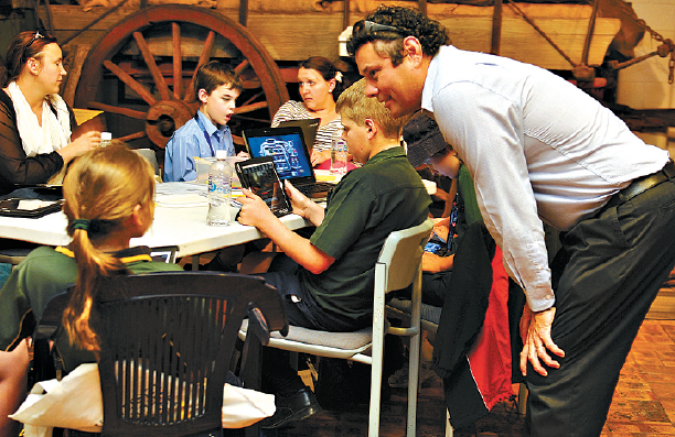 Kids connect with old and new at Cobb and Co