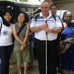 Peter Arndt in Vavuniya in Sri Lanka's north with local clergy and Justice and Peace Workers.