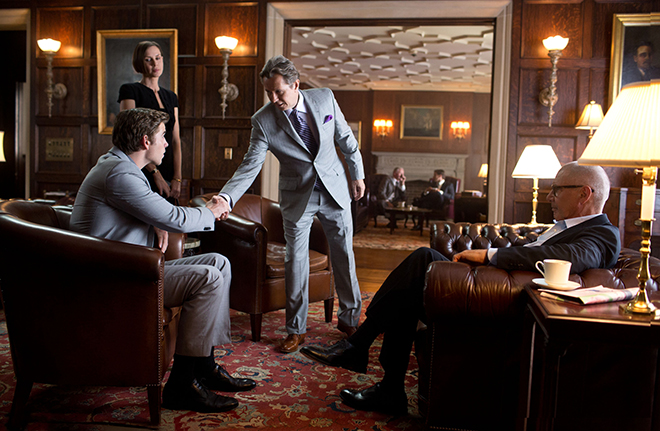 """Liam Hemsworth, Embeth Davidtz, Gary Oldman and Harrison Ford star in a scene from the movie """"Paranoia."""""""