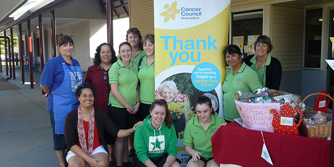 St Therese's Outside School Hours Care staff, St Therese's students and Cancer Council Queensland representatives were all involved in the recent Biggest Breakfast fundraiser.