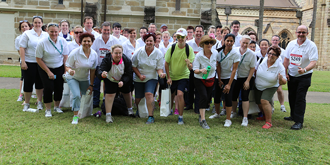 Centacare Brisbane and archdiocesan staff all set for the Cool Night Classic run and walk.