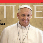 Cover of Time magazine's Person of the Year issue, featuring Pope Francis