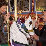 PL Travers (Emma Thompson) and Walt Disney (Tom Hanks) are poles apart in their opinions in Disney's Saving Mr Banks.