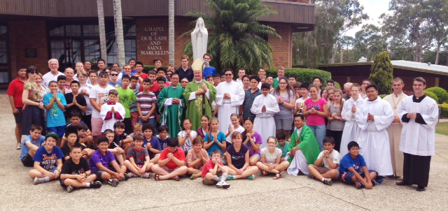 Called to serve: Young altar servers gathered in Brisbane from January 15 to 18 at Marist College Ashgrove for the 21st National Conference of the Guild of St Stephen.