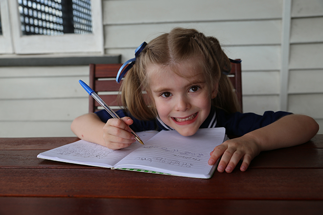 rielle Angwin is eager to start school this week.