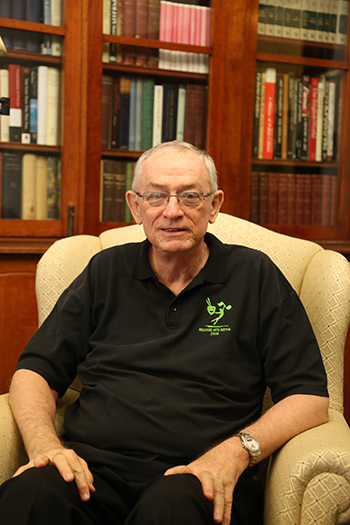 Peace and purpose: Bishop Michael Putney during his recent visit to Wynberg at New Farm.