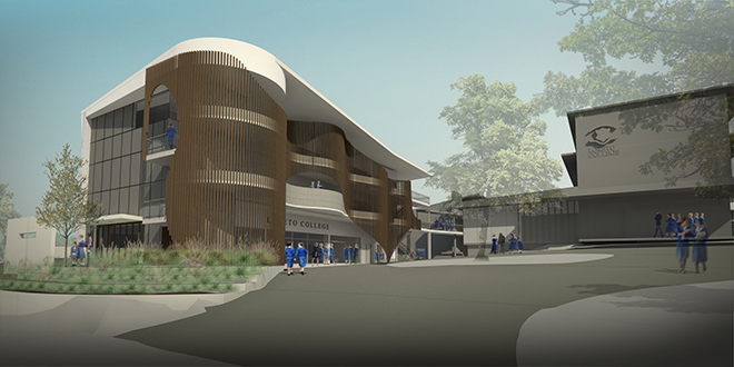 Future: Thomson Adsett's architects' impression of Loreto College Coorparoo from 2015, based on the college master plan