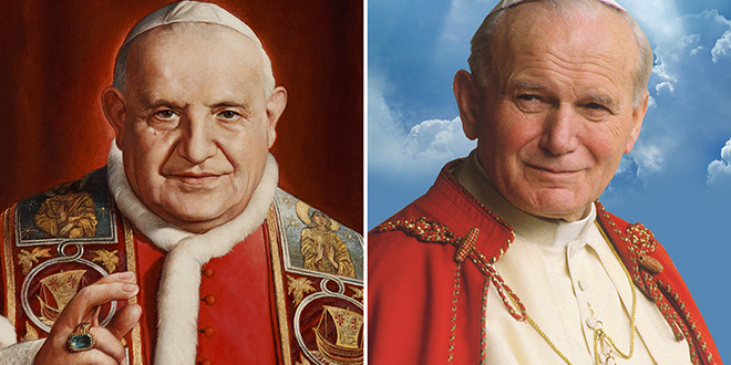 Blessed Pope John XIII and Blessed John Paul II