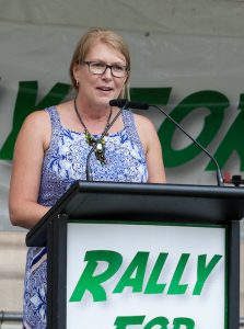 Wendy Francis (Australian Christian Lobby) at the  Rally for Life at Queens Park