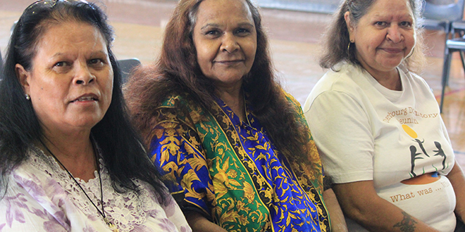 Elders share: Aunties Alison, Estelle and Deliah spoke of their sadness after being taken as children from their parents and placed in dormitories at Cherbourg.