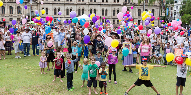 Culture of life: A large crowd gathered at the Rally for Life at Queens Park last weekend to protect life at all stages. Photo: Alan Edgecomb