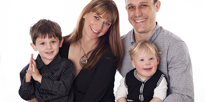 Family for life: Tim and Christina Rushbrook with sons Levi (left) and Jireh. Their third son, Lucas, was born recently.