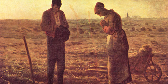 The Angelus: The oil painting by French painter Jean-François Millet, completed in 1859.