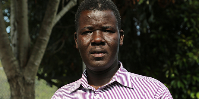 Grateful for prayers: Zachria Akojom was relieved to hear his friends were alive after fleeing fighting in South Sudan. Photo: Paul Dobbyn