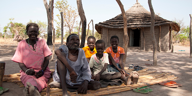 Caritas help: Families like Deng's have been helped to rebuild their lives