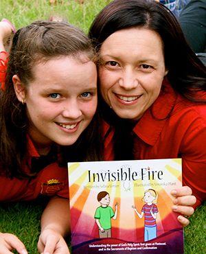 """Writing for children: Selina Venier and daughter Alessia who is """"a great sounding board""""."""