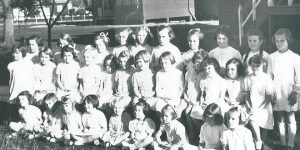 Students at St Mary's from the 1940s.