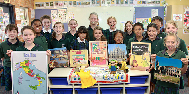 Creative process: St Ignatius Year 5 students love the idea of learning about science in a different language.
