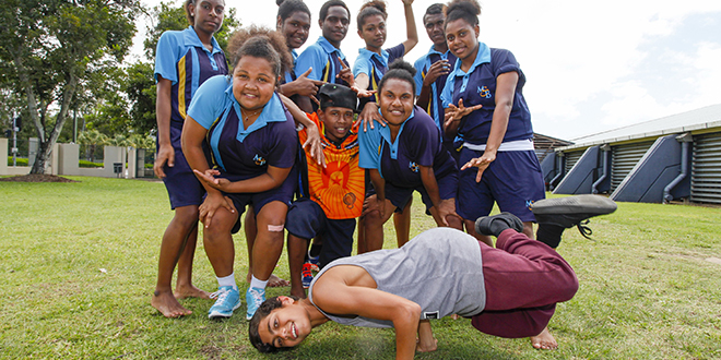 Talent galore: Seven of these 10 dancers at Mount St Bernard's College were recently accepted into the prestigious Bangarra Rekindling Dance Program.