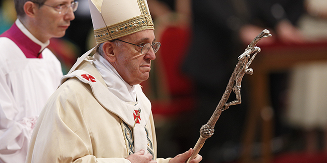 Thinking of Albania: Pope Francis is planning to visit Albania. Photo: CNS/Paul Haring.