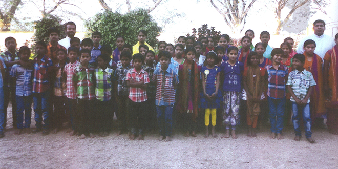Blessed children: Child orphans with the Missionary Congregation of the Blessed Sacrament at the Blessed Mother Teresa Home.
