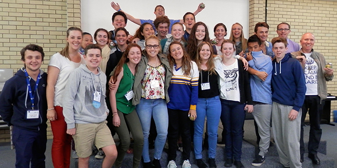 Call waiting: Students gathered at a Year 12 forum organised by Marist youth that focused on understanding their own vocation.