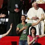 Pope Francis with charismatics