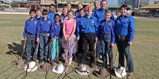 Learning opportunity: St Mary's whip crackers kicked off a busy day at the annual Rural Discovery Day.