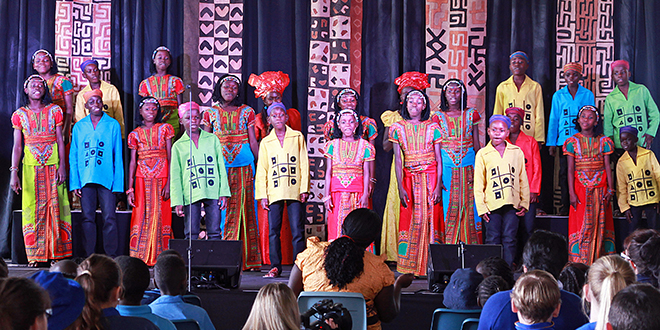 High spirits: Members of the Watoto Choir delivered a stunning performance at St Peter Claver College.