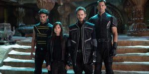 Historical shambles: Adan Canto, Ellen Page, Shawn Ashmore and Daniel Cudmore star in a scene from the movie X-Men: Days of Future Past. Photo: CNS/Fox