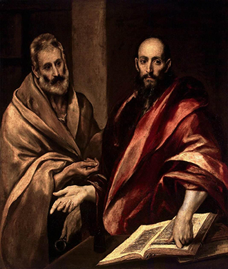 Saintly figures: St Peter and St Paul, by El Greco.