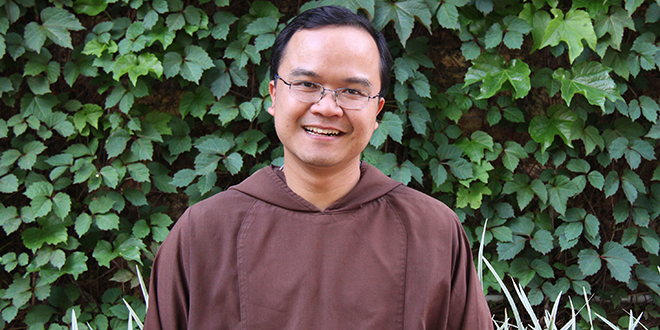 Returning home: Capuchin Father Lam Vu returned to Brisbane this week as the new parish priest of St Mary's South Brisbane and administrator of Dutton Park-West End.