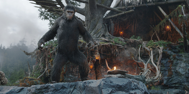 """Leading role: Caesar, voiced by Andy Serkis, appears in the movie """"Dawn of the Planet of the Apes"""". Photo: CNS/Fox"""