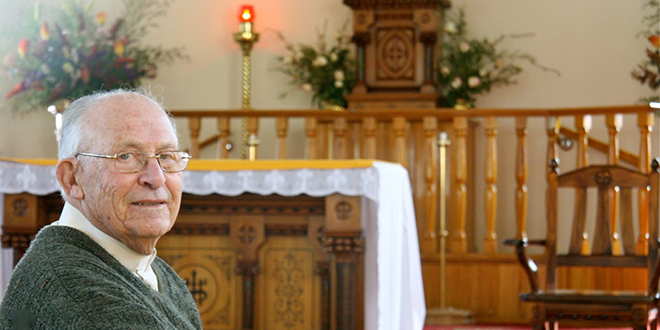 Fr Lino Valente: Queensland's only diamond jubilarian priest this year. Photo: Selina Venier