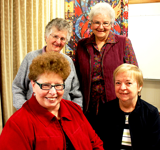 Realising the vision: Queensland's Presentation Sisters new leadership team (back from left) Sisters Rita Cusack and Patsy Grundy; and (front) Sisters Marlette Black and Mary Franzmann.